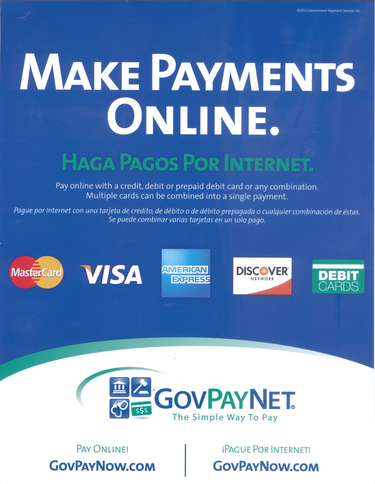 Make Payments Online Flyer
